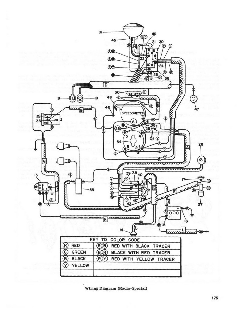 5.13 Electrical - Wiring diagram 1955 - 1957 (Radio Special) on