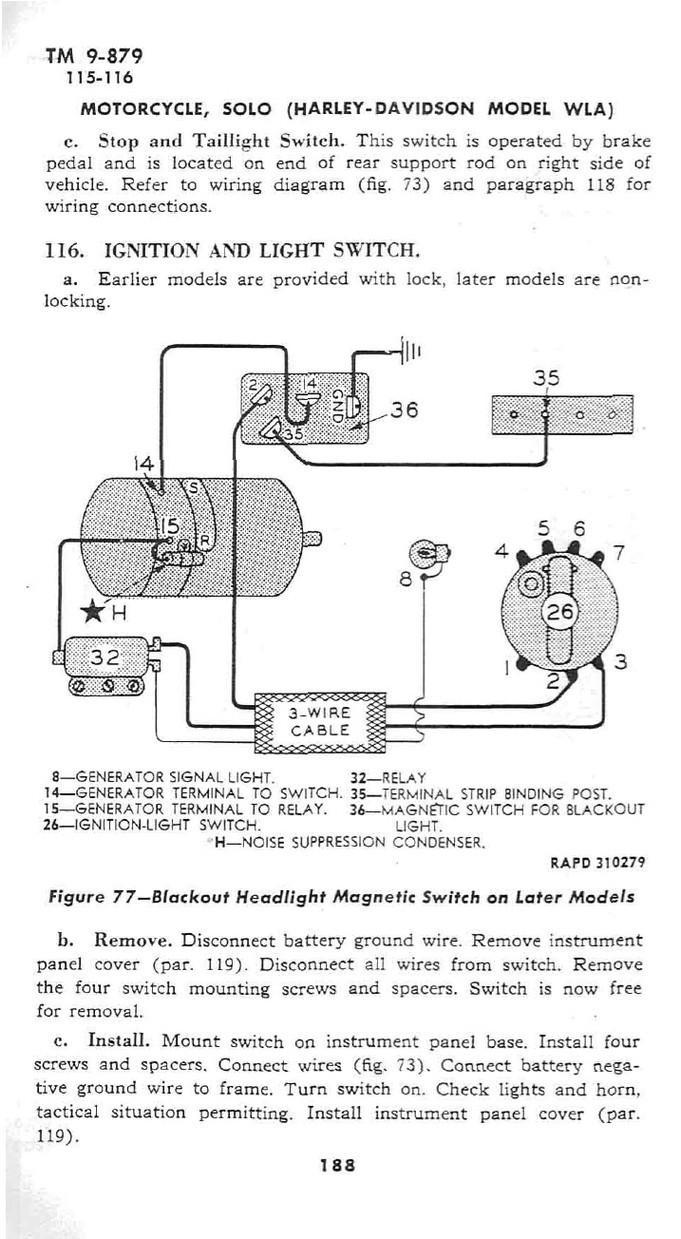 XXIII Battery, lighting system, horn on