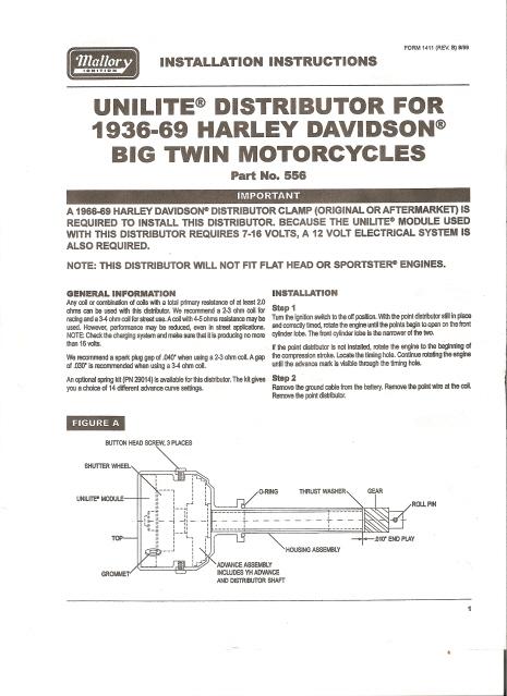 Mallory Unilite distributor installation instructions on mallory gauges, mallory furniture, mallory resistors, mallory electronics, mallory battery,